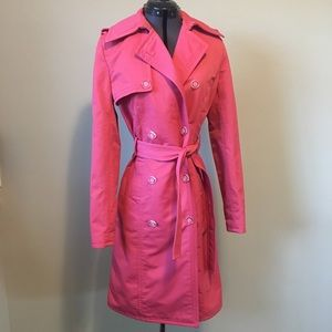 Express Pink Trench Rain Coat
